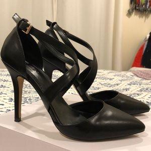 Aldo Black Leather Heels
